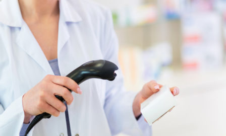 Pharmacist scanning product