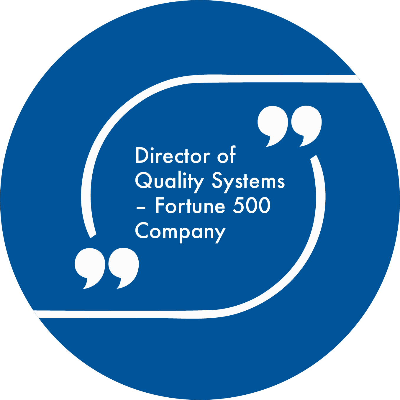 director of quality systems fortune 500 company quote