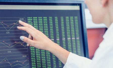 A quality manager reviewing quality system data using SAP Leonardo