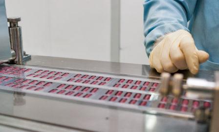Image showing PhRMA member company preparing drugs for shipment.