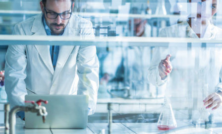 Using robotic process automation in a generics lab